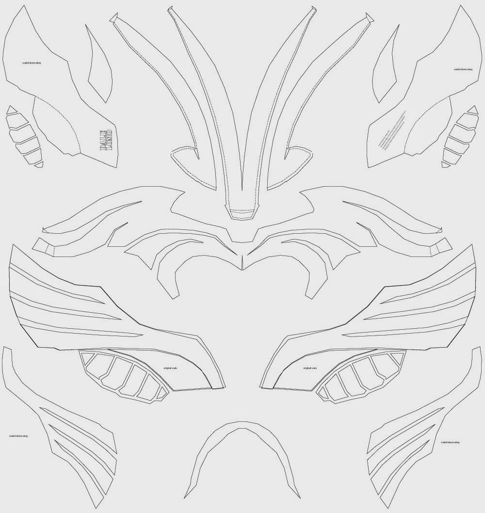 Dali-Lomo: Thor Costume Helmet DIY, Last Minute Build - free template