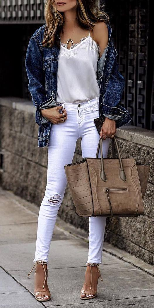 denim outfit idea