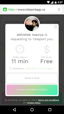 Teleport app in browser