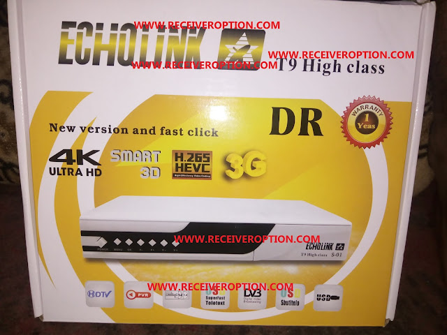 ECHQLINK T9 HIGH CLASS HD RECEIVER BISS KEY OPTION