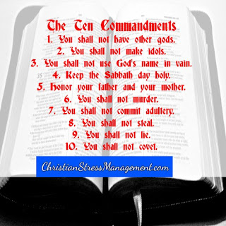 The 10 Commandments from Exodus 20