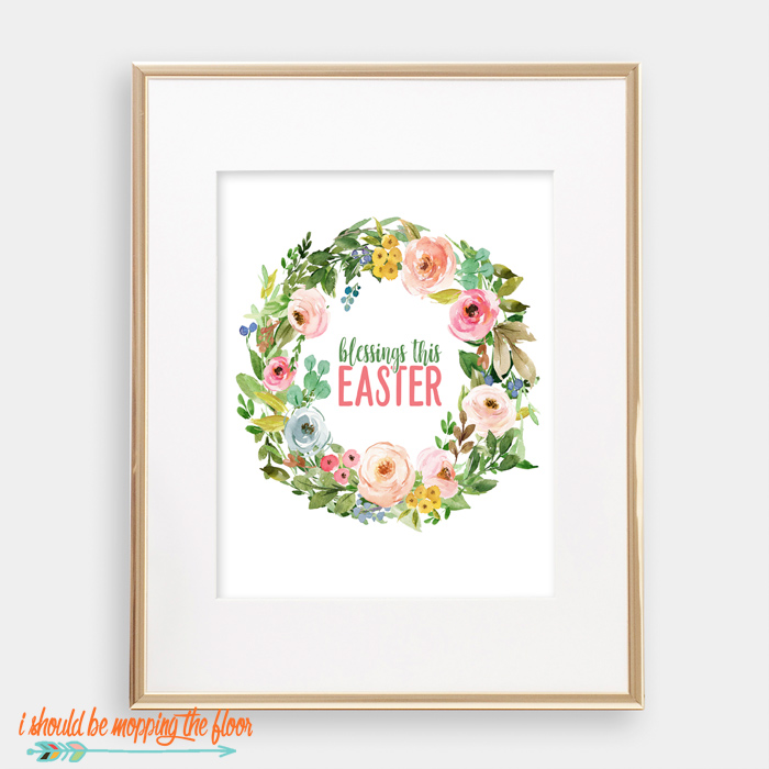 Floral Watercolor Easter Printables