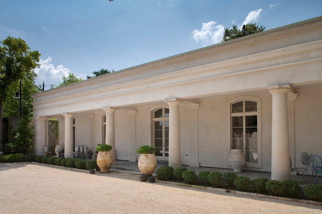 Beautiful Neoclassical Shotgun home exterior in Houston