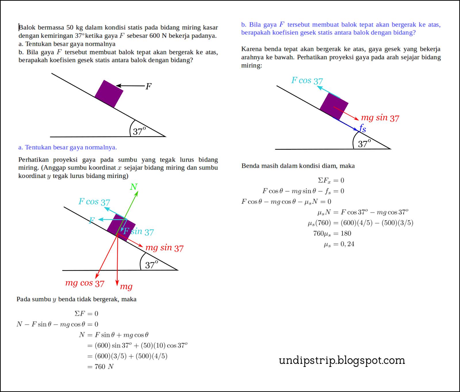 Pembahasan Soal Quiz Fisika Dasar I Undip Strip