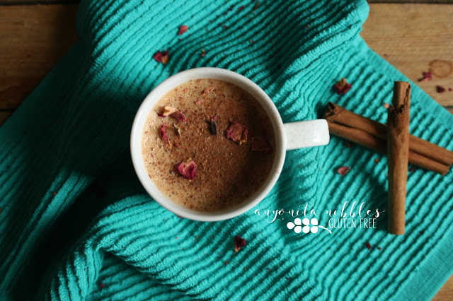 Homemade Authentic Chai Latte with Rose Petals and Fresh Cinnamon | Anyonita Nibbles