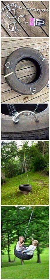 Cómo hacer un columpio con un neumático viejo
