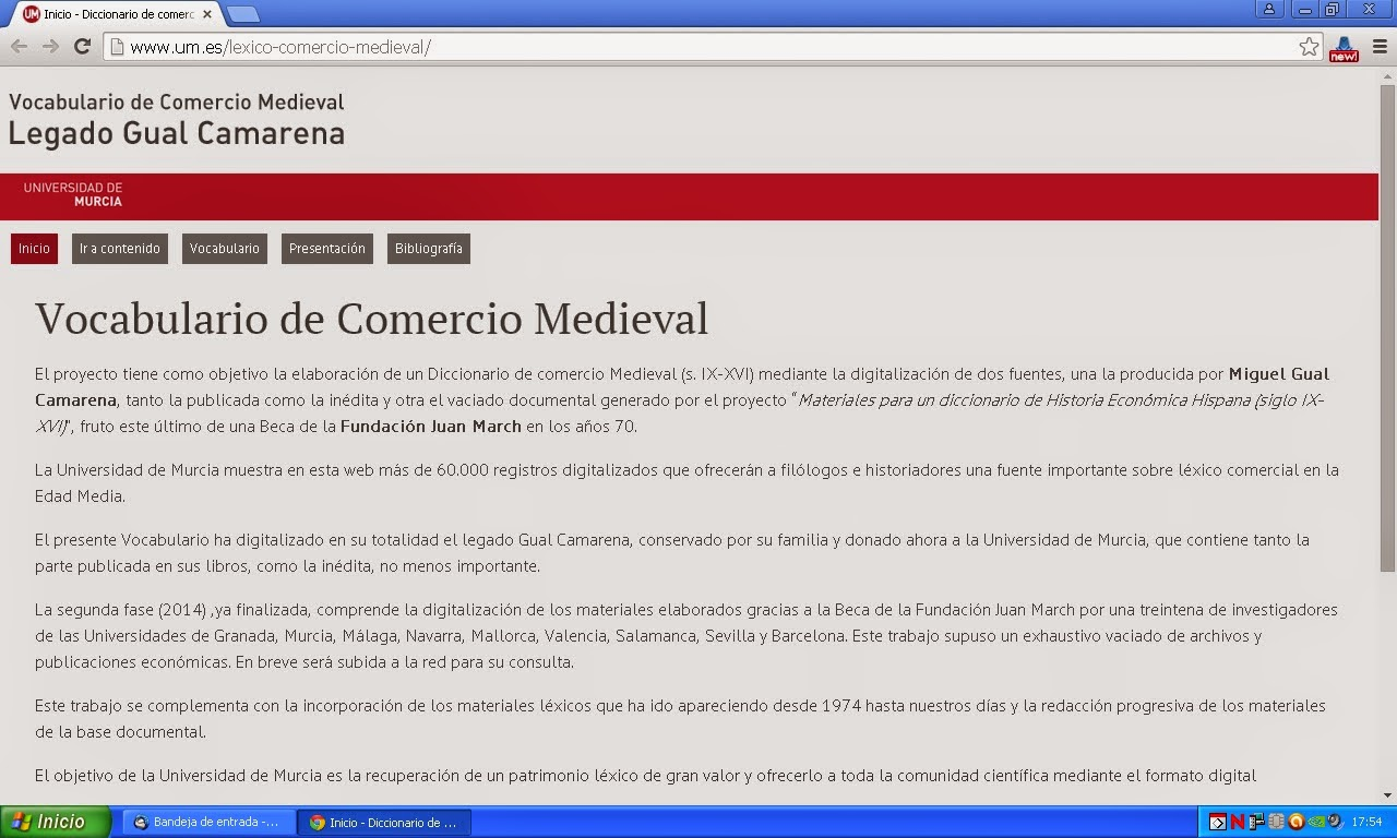 Vocabulario de Comercio Medieval.