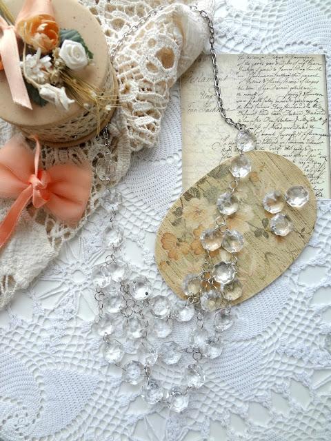 Repurposing project: Chandelier Necklace