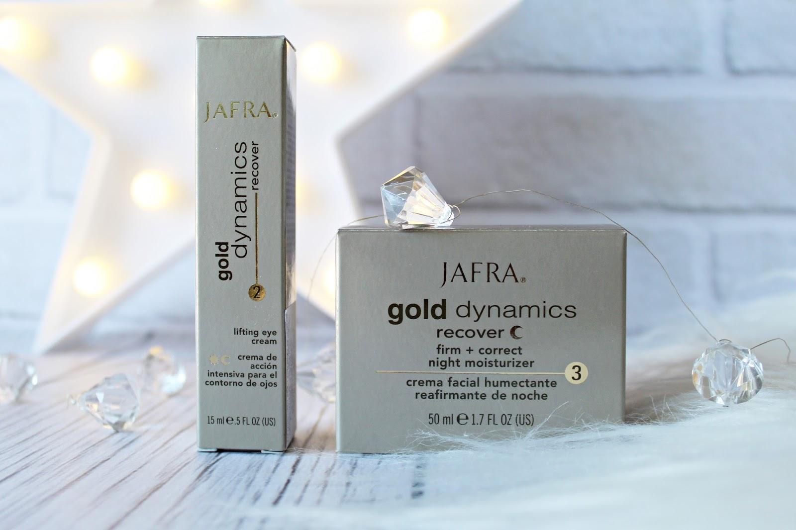 JAFRA Gold Dynamics recover - Krem ze złotem na noc + liftingujący krem pod oczy