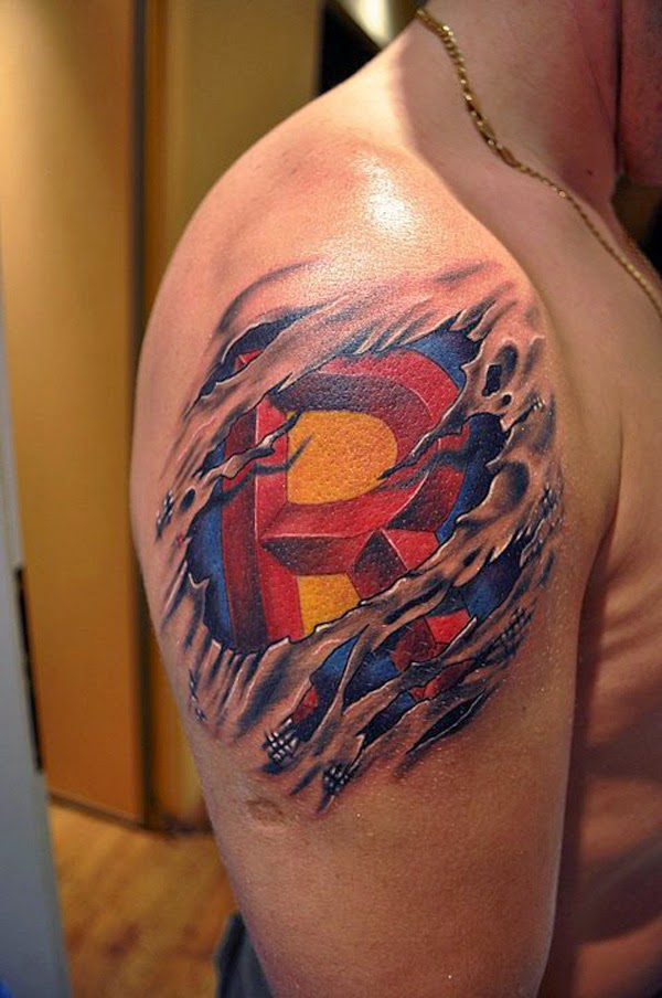 15 cool superman tattoo ideas. Black Bedroom Furniture Sets. Home Design Ideas