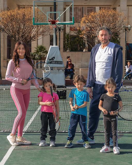 إطلالة رياضية لكندا حنا على انستقرام في ملعب التنس