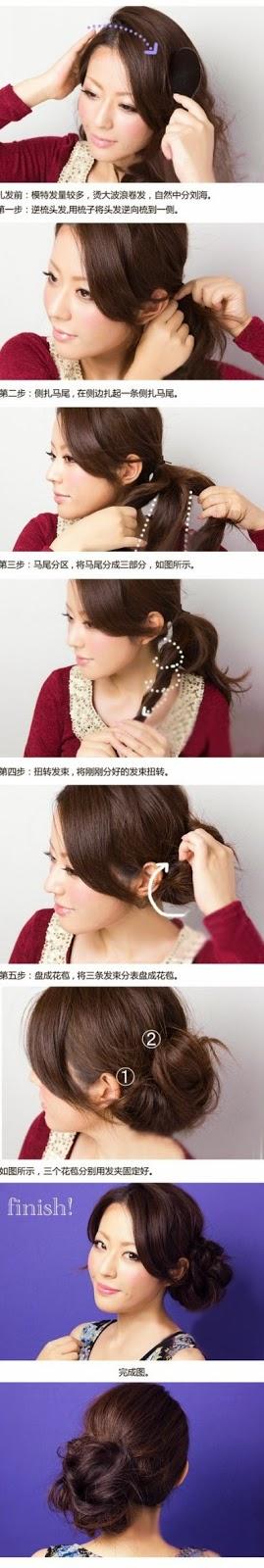 gaya penataan rambut wanita untuk pesta