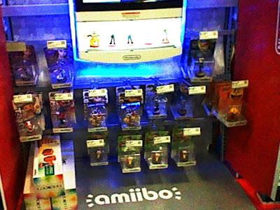 amiibo retail store aisle Best Buy Olimar Pikmin Zero Suit Samus