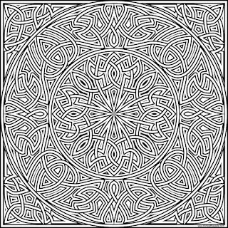 knot to print and color- available in jpg and transparent png formats #knotwork