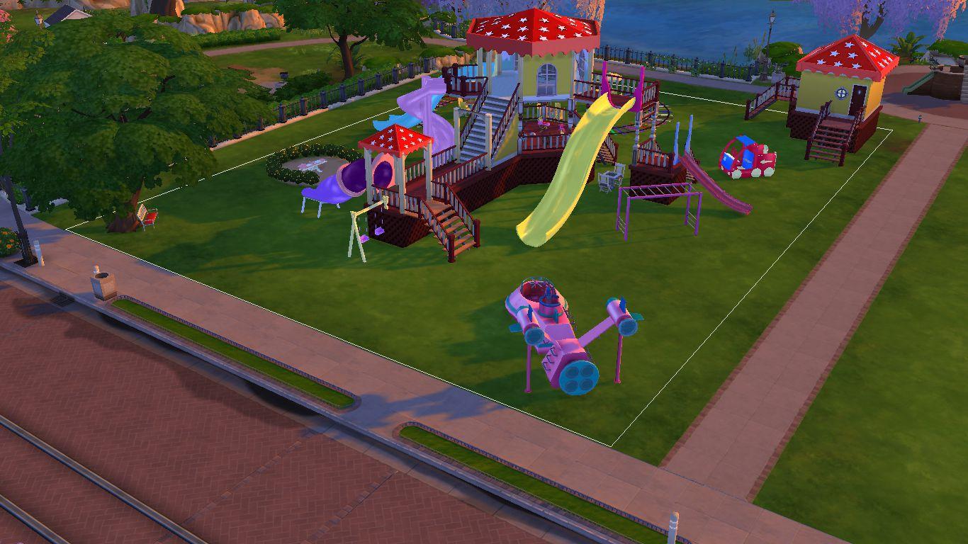 Sims 4 CC Download : Joyful Kids Playground Set | Sanjana