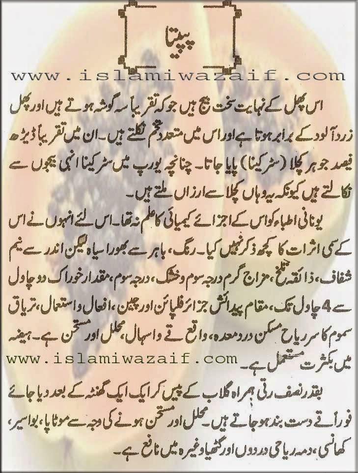 papita k fawaid in urdu