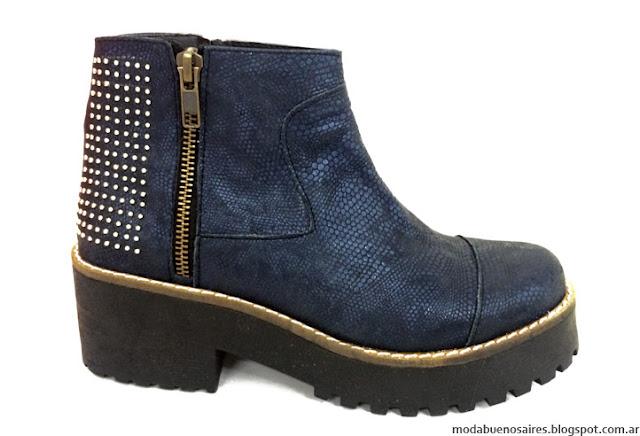 Botinetas bajas de cuero Traza Calzados. Moda invierno 2016 zapatos y botas.