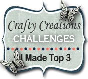 I won a top 3 at Crafty Creations