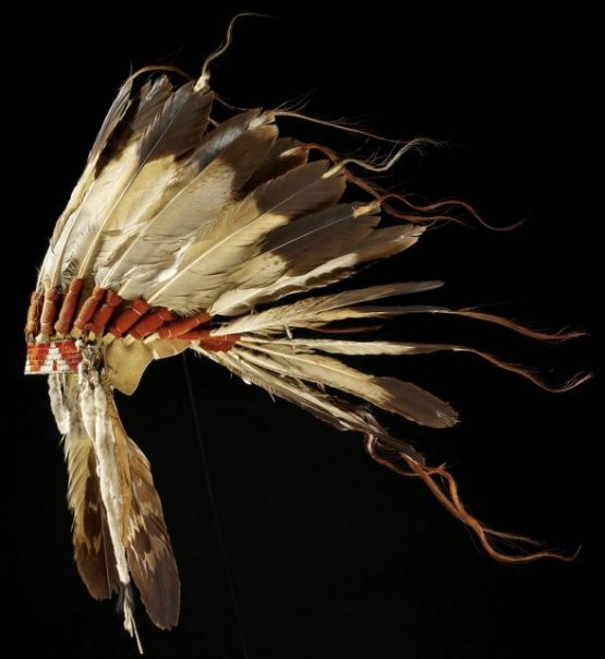 Lakota eagle feathers bonnet