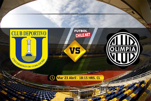 Mira Universidad de Concepción vs Olimpia en vivo y online por la Fecha 5 del Grupo C de la Copa Libertadores