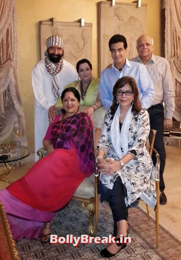 Zeenat Aman, Jeetendra, Shobha Kapoor, Sunanda and Surendra Shetty with G S Bawa, Bollywood's Raksha Bandhan Pics - 2014