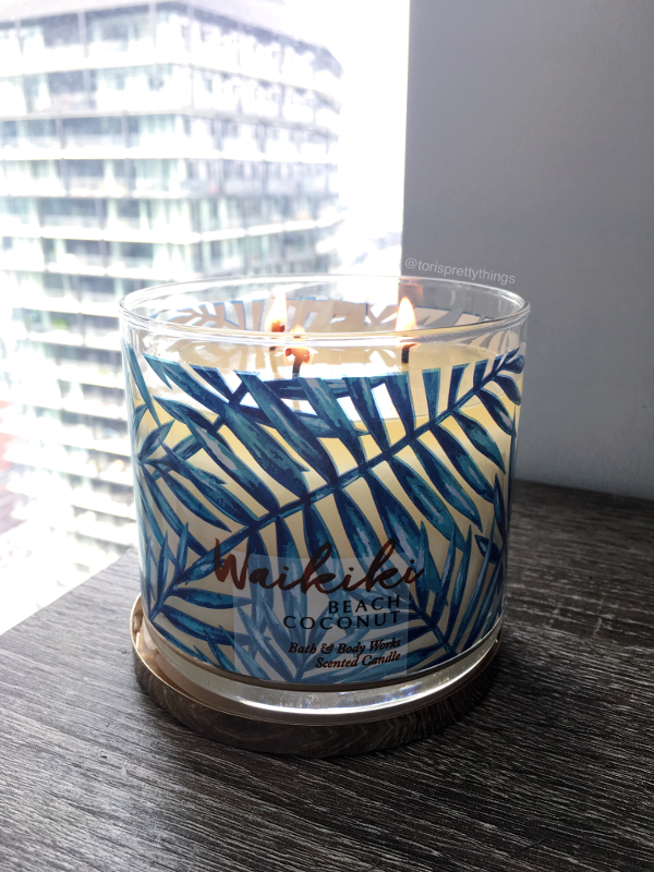Waikiki Beach Coconut Bath and Body Works Candle - Tori's Pretty Things Blog