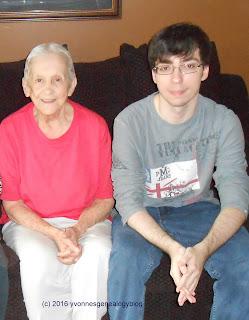 Darlene Belair with her great-nephew Nicholas