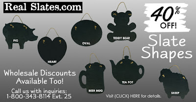 Slate Shapes are 40% Off! Wholesale discounts available too!