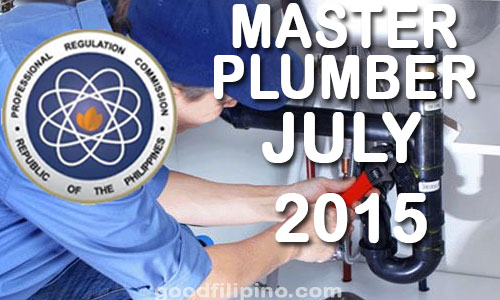 July 2015 Master Plumber Board Exam Results, PRC List of Passers (July 2015)