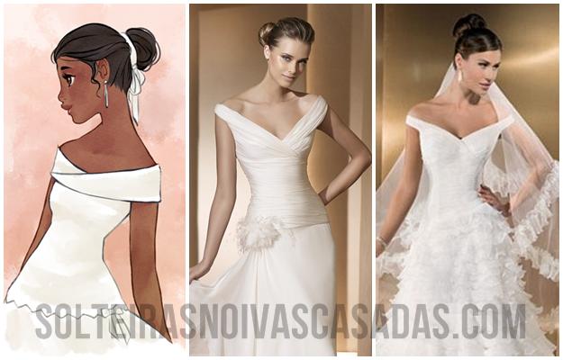 decotes de vestidos de noiva