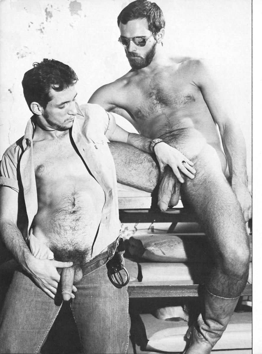 Male porn postcard