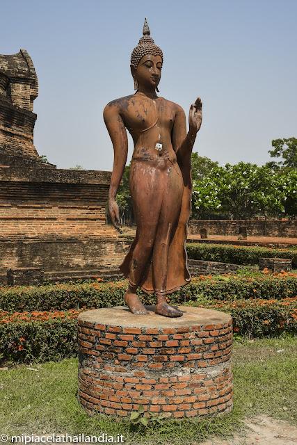 Sukhothai, walking Buddha from Wat Sa Si