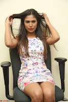 Nishi Ganda stunning cute in Flower Print short dress at Tick Tack Movie Press Meet March 2017 147.JPG