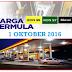 Harga Minyak Petrol Dan Diesel Oktober 2016