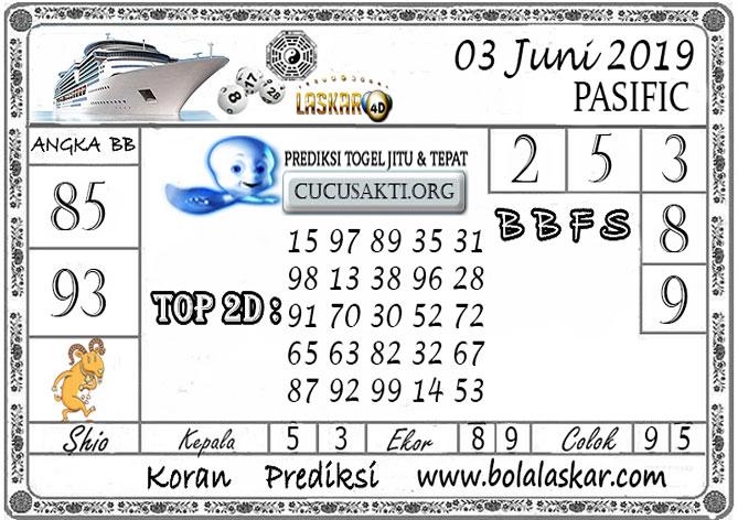 Prediksi Togel PASIFIC LASKAR4D 03 JUNI 2019