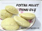 Thinai Idly Dosai