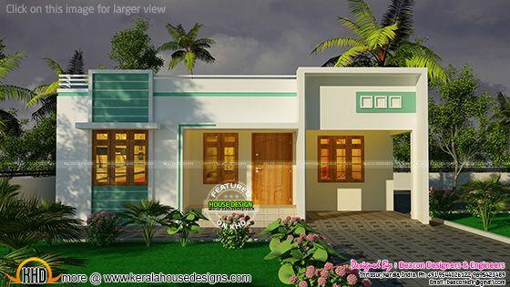 One floor flat roof home