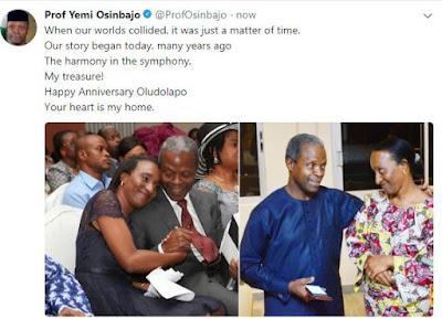 Osinbajo1 - 9JA NEWS: Yemi Osinbajo & wife Dolapo celebrate 28th Wedding anniversary