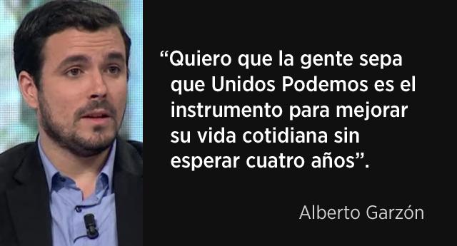 """Alberto Garzón: """"Tenemos que estar en los barrios, en el tejido social y en los espacios laborales"""""""