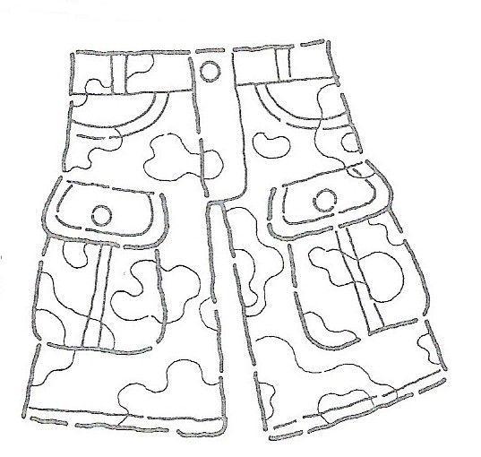 Dibujos para colorear de pantalon corto - Imagui