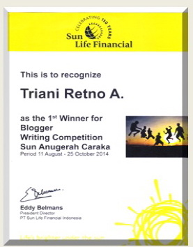 menang lomba blog sunlife