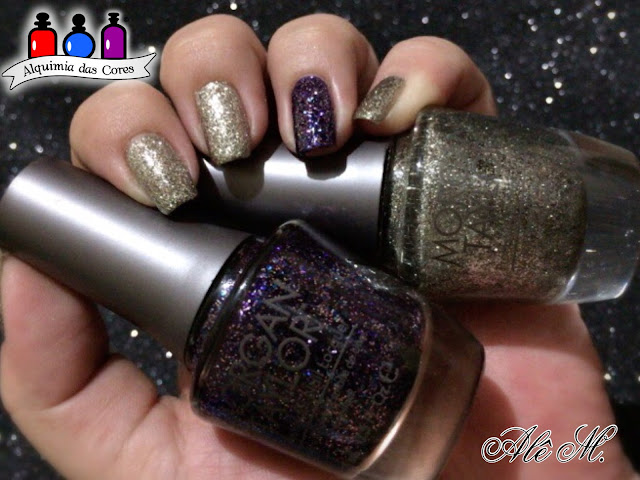 Morgan Taylor, Glitter Nail Polish Lacquer, Sapphires, Rubies, and Emeralds Oh My, The Royal Life Collection, 2013, Time to Shine, Alê M.