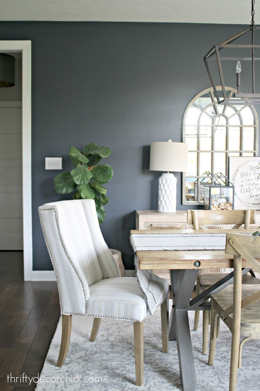 Dark blue gray paint Sherwin Williams