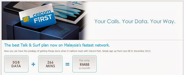 Celcom Talk & Surf 2013 Latest Promotion