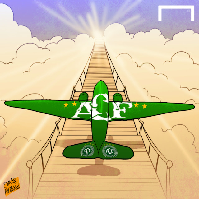 Chapecoense cartoon