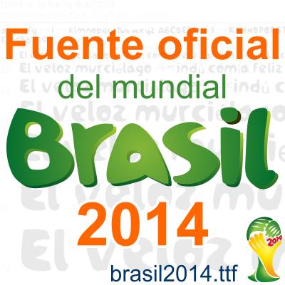 Fuente oficial de Brasil 2014