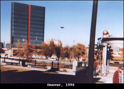 Here is a great Flying Saucer photo from way back in 1996 over Denver.