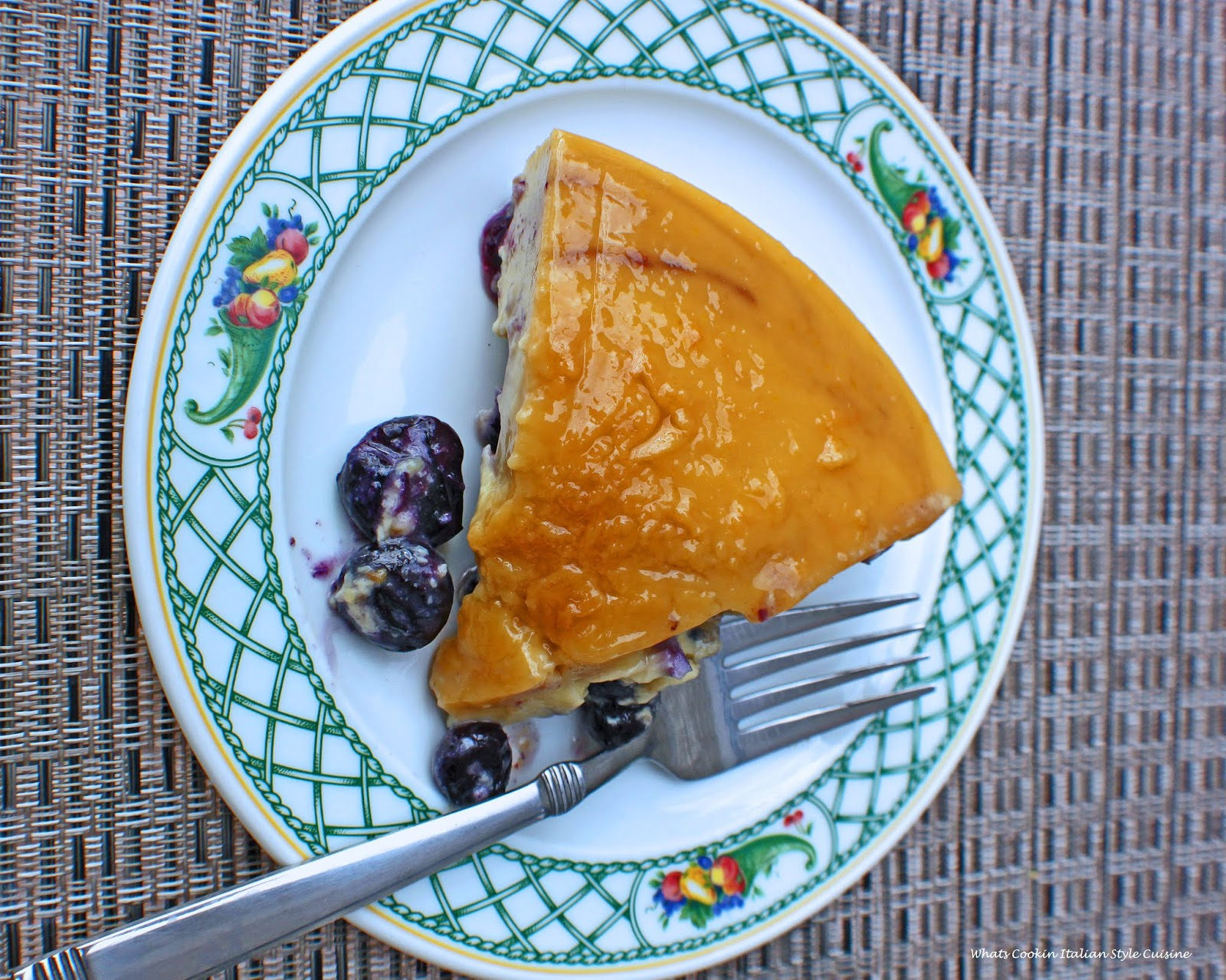 this is how to make a blueberry flan