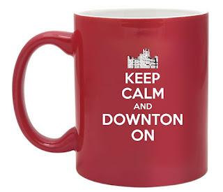 Keep Calm And Carry On Downton Abbey Mug