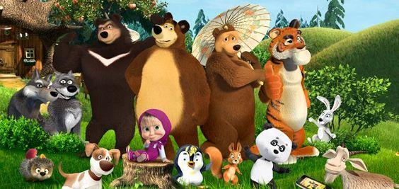 Gambar Animasi Kartun Masha And The Bear Dan Temannya